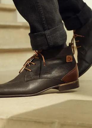 Ботинки Kost Paris номерные 42 размер Италия Кожа натуральная.