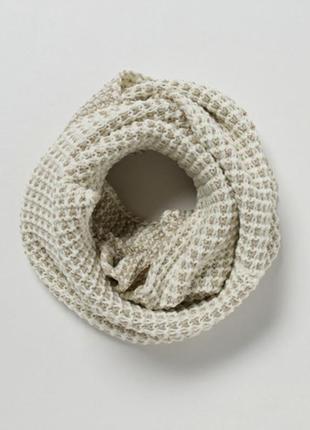 Шарф scarf metallic snood снудик снуд бежевый хомут accessorize