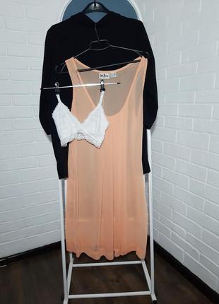 Прозрачное платье туника под джинсы