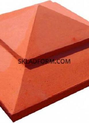 Форма крышки на столб Пирамида 2