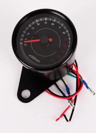Тахометр выносной универсальный (аналоговый, хром, 13000об/мин)
