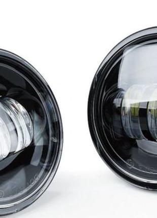 Противотуманки LED, дополнительные фары 100 мм,люстра Harley,Jeep
