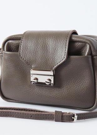 Стильная сумка через плечо (натуральная кожа)