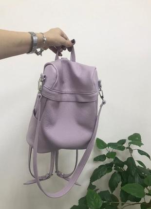 Кожаный рюкзак-сумка 2 в 1 (трансформер)