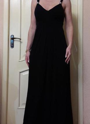 Черное платье в пол lila