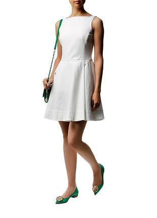 Ralph lauren оригинальное коттоновое белое платье c vвырезом н...
