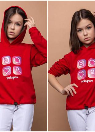 Толстовка для девочки. свтшот «инстаграм»