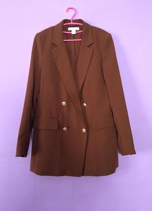 Крутой двухбортный пиджак удлиннённые, h&m стильный