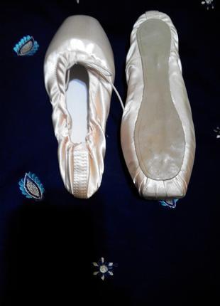 Пуанты для балерины стелька 21, 5 см
