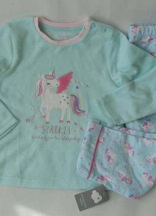 Пижама байка флис primark англия 24-36 мес 98 см 2-3 года