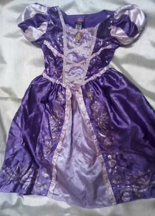 Карнавальный костюм Принцесса Дисней Рапунцель девочке 3 - 4 лет