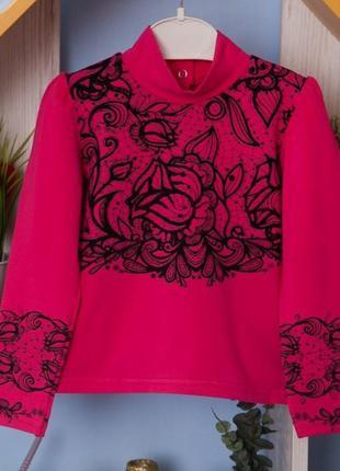 Красивая нарядная блузка,кофта, гольф для девочки в школу, см....