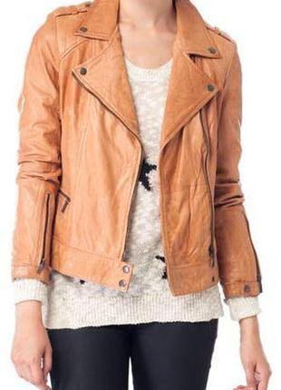Куртка натуральная кожа stradivarius
