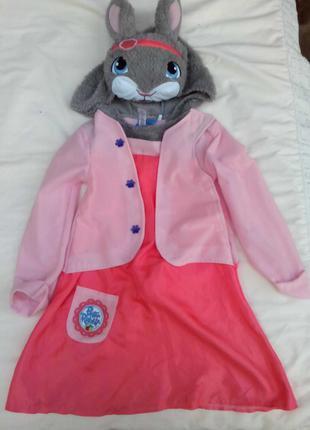 Карнавальный костюм Зайка для девочки 5 - 6 лет