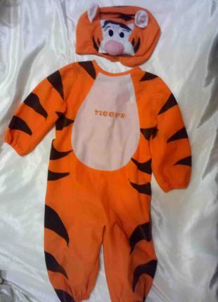 Карнавальный костюм Тигренок для мальчика 2 лет оранжевый