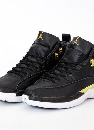 Nike air jordan retro 12 black шикарные мужские кроссовки найк...