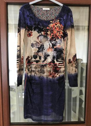 Платье миди джерси стильное модное дорогой бренд германии oui ...
