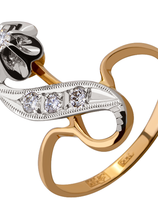 Кольцо золото 585 ссср бриллианты якутия 0,19 кт 18 размер, видео