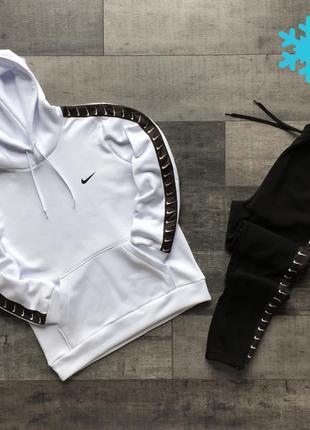 Спортивный костюм мужской зимний Nike Lampas на флисе белый | ...