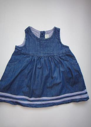 Джинсовое платье jojo maman bebe 3-6 мес