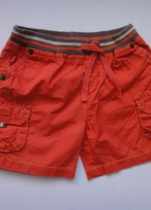 Оранжевые шорты mothercare 12 мес