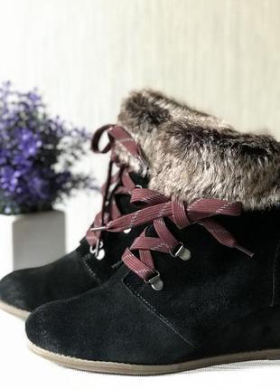 Ботиночки из натуральной замши clarks