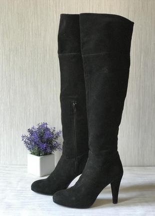 Итальянские сапоги ботфорты black