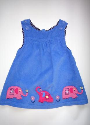 Вельветовое платье jojo maman bebe 6-12 мес
