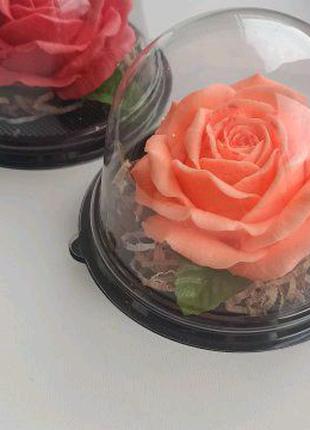 Розы из мыла ручной работы в куполе