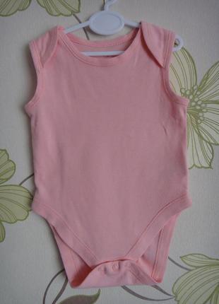 Розовый боди-майка early days 3-6 мес, 68 см