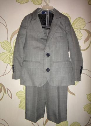 Стильный костюм duck & dodge двойка пиджак и брюки 2-3 года