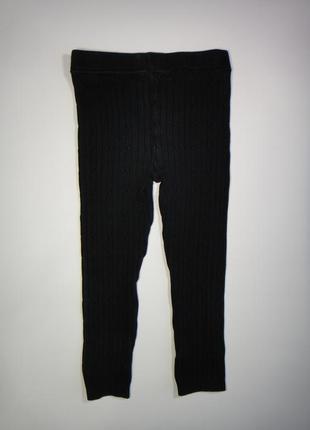 Теплые черные лосины george  3-4 года, 98-104 см