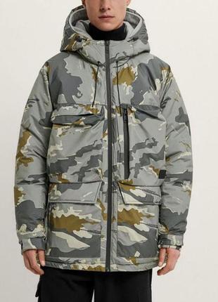Куртка мужская стёганая с двойным капюшоном