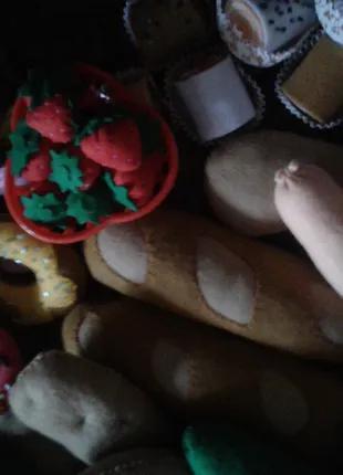 Игрушки мягкие продукты еда овощи