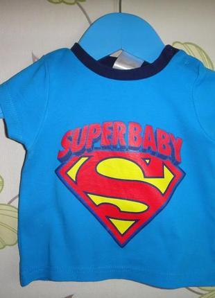 "Футболка babies rus ""super baby"" 9-12 мес"