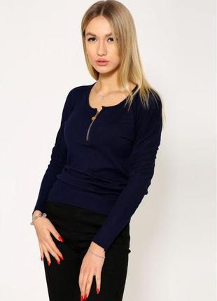 Свитер женский 110r1355 цвет темно-синий размер s-m