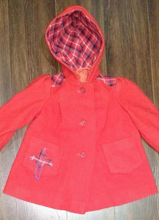 Пальто красное детское