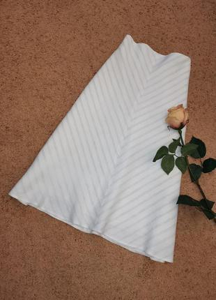 Льняная юбка миди слип трапеция большой размер 18 next