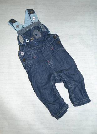 Детский джинсовый полукомбинезон некст в идеале
