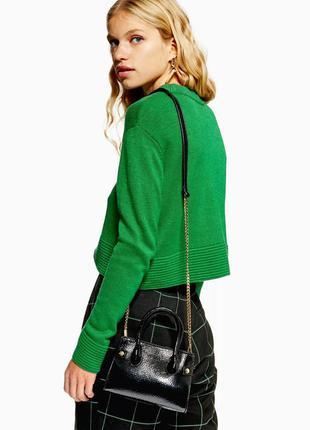 Сочно-зелёный кашемировый свитер topshop 💚 зеленый джемпер каш...