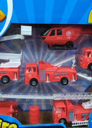 Набор транспорта TH-H035 Пожарные, в коробке 38,5*6*28,5 см.