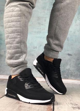 Обувь в стиле air max 90 black and white