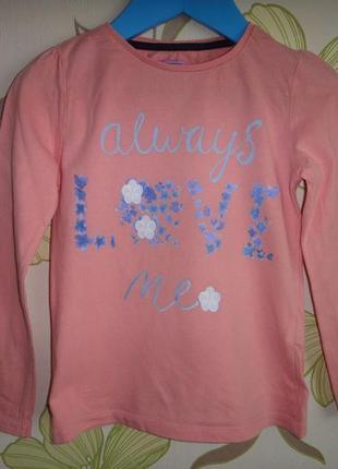 """Реглан f&f """"always love me"""" 4-5 лет, 110 см"""