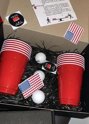 """Набор для Бир Понга """"Beer Pong"""" (игра для компании настольная)"""
