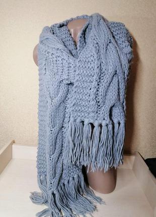Шарф вязаний крупна вязка