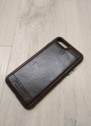 iPhone 7 Plus / 8 Plus чехол кожа коричневый