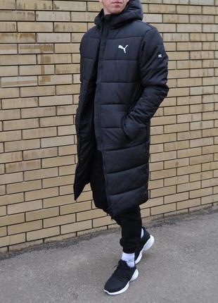 Куртка, парка мужская удлиненная зимняя до -25 с