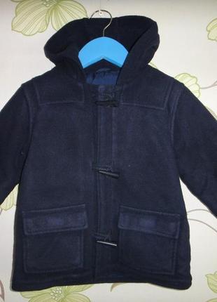 Синее пальто marks&spencer 2-3 года, 97 см рост