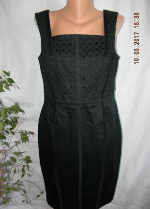 Элегантное натуральное платье с кружевной вставкой