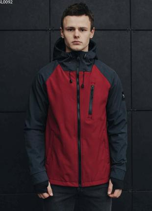 Куртка staff soft shell solar grafit & bordo